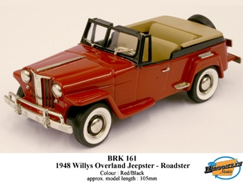 Brooklin BRK 161 Willys Overland Jeepster Roadster 1948